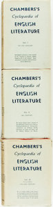 Books:Reference & Bibliography, David Patrick, editor. Chamber's Cyclopædia of EnglishLiterature. London: W. & R. Chambers, Limited, [1938].Re... (Total: 3 Items)