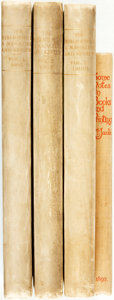 Books:Books about Books, [Books about Books]. The Bibliophile: A Magazine and Review for the Collector, Student and General Reader. Londo... (Total: 4 Items)