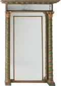 Furniture : French, A NAPOLEON III PAINTED AND GILT WOOD MIRROR, circa 1860. 77 x 54 x 11-1/2 inches (195.6 x 137.2 x 29.2 cm). ...