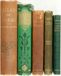 Books:Literature Pre-1900, [Literature]. Group of Five Poetry Books. Various publishers and dates.... (Total: 5 Items)