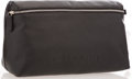 """Luxury Accessories:Accessories, Chanel Black Leather Cosmetic Bag with Silver Hardware. Excellent Condition. 10.5"""" Width x 5.5"""" Height x 4"""" Depth. ..."""