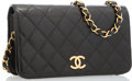 "Luxury Accessories:Accessories, Chanel Black Quilted Lambskin Leather Flap Bag with Gold Hardware.Good Condition. 7.5"" Width x 4"" Height x 3"" Dep..."