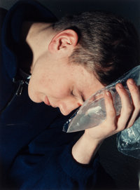 COLLIER SCHORR (American, b. 1963) Ice Pack, 1998-99 Chromogenic 23-1/8 x 17-1/4 inches (58.7 x 4