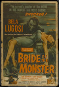"""Movie Posters:Horror, Bride of the Monster (Filmmakers Releasing, 1956). Poster (40"""" X 60""""). Horror. ..."""