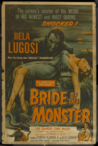 "Bride of the Monster (Filmmakers Releasing, 1956). Poster (40"" X 60""). Horror"