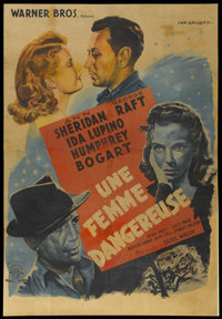 """They Drive by Night (Warner Brothers, 1940). French Grande (41.5"""" X 60""""). Drama"""