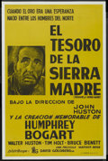 """Movie Posters:Drama, The Treasure of the Sierra Madre (Warner Brothers, R-1950s). Spanish One Sheet (28"""" X 43""""). Drama. ..."""