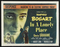 "Movie Posters:Film Noir, In a Lonely Place (Columbia, 1950). Half Sheet (22"" X 28"") Style B.Film Noir. ..."