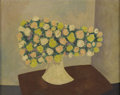 Fine Art - Painting, American:Contemporary   (1950 to present)  , CHARLES GREEN SHAW (American 1892-1974). Still Life with Bouquetof Flowers. Oil on artists' board. 8 x 10 inches (20.3 ...