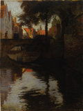 Fine Art - Painting, European:Antique  (Pre 1900), Late 19th Century Dutch School. Afternoon Stroll. Oil oncanvas laid on board. 23-1/2 x 17-1/4 inches (59.7 x 43.7 cm). ...