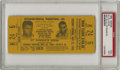 Boxing Collectibles:Memorabilia, 1965 Ali vs. Liston Full Ticket PSA EX 5. The bout responsible for the most famous photograph in the sport's history, with ...