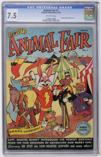 Animal Fair #1 (Fawcett, 1946) CGC VF- 7.5 Off-white pages
