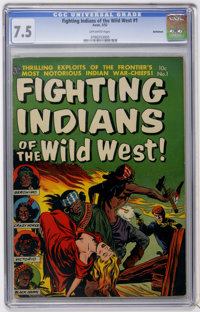 Fighting Indians of the Wild West! #1 Bethlehem pedigree (Avon, 1952) CGC VF- 7.5 Off-white pages