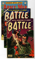Golden Age (1938-1955):War, Battle/Our Fighting Forces Group (Marvel, 1953-55) Condition: Average VG+.... (Total: 3 Comic Books)