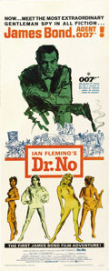"Movie Posters:James Bond, Dr. No (United Artists, 1962). Insert (14"" X 36""). ..."