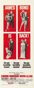 "Movie Posters:James Bond, From Russia with Love (United Artists, 1964). Insert (14"" X 36""). ..."