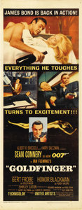 "Movie Posters:James Bond, Goldfinger (United Artists, 1964). Insert (14"" X 36""). ..."