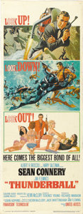 "Movie Posters:James Bond, Thunderball (United Artists, 1965). Insert (14"" X 36""). ..."