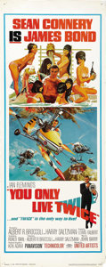 "Movie Posters:James Bond, You Only Live Twice (United Artists, 1967). Insert (14"" X 36""). ..."