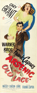 "Movie Posters:Comedy, Arsenic and Old Lace (Warner Brothers, 1944). Insert (14"" X 36"")...."