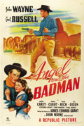 "Movie Posters:Western, Angel and the Badman (Republic, 1947). One Sheet (27"" X 41""). ..."