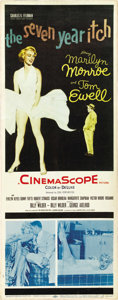 "Movie Posters:Comedy, The Seven Year Itch (20th Century Fox, 1955). Insert (14"" X 36"")...."