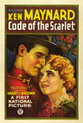 "Movie Posters:Western, Code of the Scarlet (First National, 1928). One Sheet (27"" X 41"") Style B...."