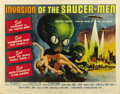 "Movie Posters:Science Fiction, Invasion of the Saucer-Men (American International, 1957). HalfSheet (22"" X 28""). ..."