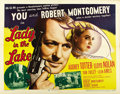 "Movie Posters:Film Noir, Lady in the Lake (MGM, 1947). Half Sheet (22"" X 28"") Style A. ..."