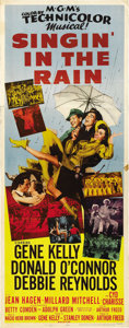 "Movie Posters:Musical, Singin' in the Rain (MGM, 1952). Insert (14"" X 36""). ..."