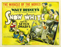 "Movie Posters:Animated, Snow White and the Seven Dwarfs (RKO, 1937). Half Sheet (22"" X 28"") Style B...."