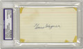 "Autographs:Index Cards, 1940's Honus Wagner Signed Index Card. ""He was the nearest thing toa perfect player no matter where his manager chose to p..."