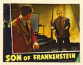 "Movie Posters:Horror, Son of Frankenstein (Universal, 1939). Lobby Card (11"" X 14""). ..."