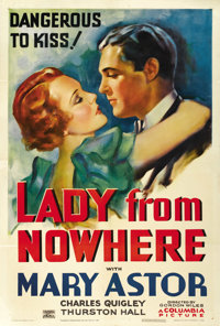 """Lady From Nowhere (Columbia, 1933). One Sheet (27"""" X 41"""")"""