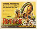 "Movie Posters:Science Fiction, Reptilicus (American International, 1961). Half Sheet (22"" X 28"")...."