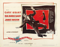 "North by Northwest (MGM, 1959). Half Sheet (22"" X 28"") Style A"