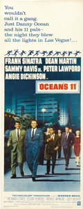 "Movie Posters:Crime, Ocean's 11 (Warner Brothers, 1960). Insert (14"" X 36""). ..."