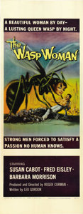 "Movie Posters:Science Fiction, The Wasp Woman (20th Century Fox, 1959). Insert (14"" X 36""). ..."