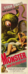 "Movie Posters:Science Fiction, Monster From the Ocean Floor (Lippert, 1954). Insert (14"" X36"")...."