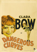 "Movie Posters:Comedy, Dangerous Curves (Paramount, 1929). Window Card (14"" X 20""). ..."