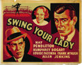 "Movie Posters:Comedy, Swing Your Lady (Warner Brothers, 1938). Other Company Half Sheet(22"" X 28""). ..."