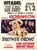"""Movie Posters:Crime, Brother Orchid (Warner Brothers, 1940). Window Card (14"""" X 18""""). ..."""
