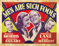 "Movie Posters:Drama, Men Are Such Fools (Warner Brothers, 1938). Other Company HalfSheet (22"" X 28""). ..."