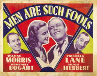"""Men Are Such Fools (Warner Brothers, 1938). Other Company Half Sheet (22"""" X 28"""")"""