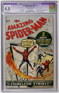 The Amazing Spider-Man #1 (Marvel, 1963) CGC Apparent VG 4.0 Extensive (P) Off-white pages