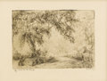 Texas:Early Texas Art - Drawings & Prints, BLANCHE MCVEIGH (1895-1970). A Tree by the Road. Etching onpaper. 5 x 7 inches (12.7 x 17.8 cm). Signed lower right. Ti...