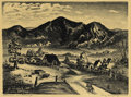Texas:Early Texas Art - Drawings & Prints, MARY LIGHTFOOT (1889-1970). Colorado Landscape. Lithographon paper. 9 x 12 inches (22.9 x 30.5 cm). Signed lower right...