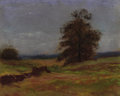 Texas:Early Texas Art - Impressionists, ATTRIBUTED TO REVEAU BASSETT (1897-1981). UntitledLandscape. Pastel on #3 sandpaper. 7 x 9 inches (17.8 x 22.9cm). Uns...