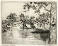 Texas:Early Texas Art - Drawings & Prints, MARGARET CARRUTH SCRUGGS (1892-1988). The Bridge Nokomis,1925. Etching on paper. 5-1/2 x 7 inches (14.0 x 17.8 cm). Sig...
