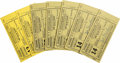 Boxing Collectibles:Autographs, 1937 and 1938 Nat Fleischer Signed Exchange Tickets (14). Fleischercreated Ring Magazine in 1922 and was inducted into the ...